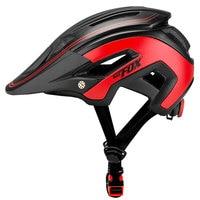 BATFOX Ultralight Cycling Bike Helmet Black Red matte MTB road Bicycle Helmet mtb special Bike Helmets Cycling helmet Bicycle Helmet     -