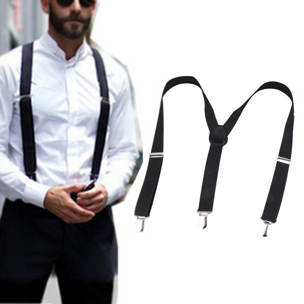Elastic Y-Shape Adjustable Braces Unisex Mens Womens Pants Braces Straps Belt Clothing HOT Clip-on Suspenders #L20