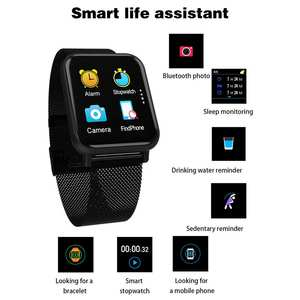 2020 New Man Smart Bracelet R6 Touch Screen Color Screen Multi-Function Sports Smart Watch With Heart Rate Monitor Wristband