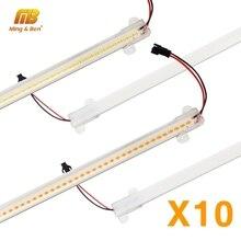 10 قطعة عمود إضاءة LED ضوء 72 المصابيح 220 فولت أنبوبة ليد ضوء واضح قذيفة حليبي الأبيض قذيفة 30 سنتيمتر 50 سنتيمتر الدافئة الباردة يوم الأبيض المطبخ تحت خزانة