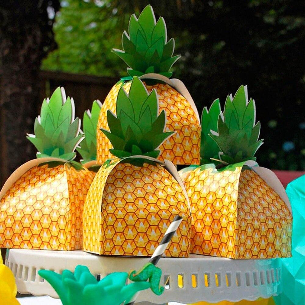 100 шт. ананас коробка конфет Свадебные сувениры и подарок для гостей украшения Луау для Гавайской вечеринки детская День рождения подарок