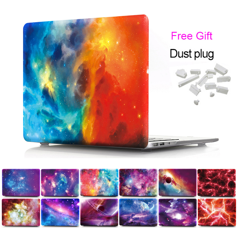 Laptop Hard Cases for MacBook new Pro Retina 13 15 Air 11 13 Sky Stars Pattern Protective shell Case Model A1708 A1990 Cover