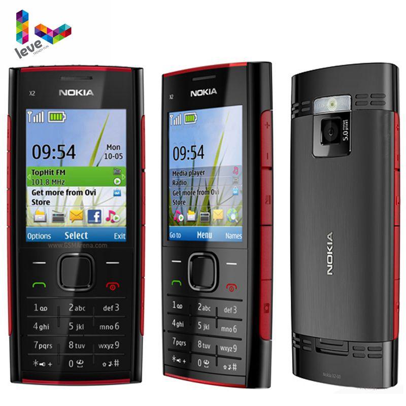 Original Desbloqueado Nokia X2-00 MP3 MP4 Jogador FM Bluetooth Do Telefone Móvel Nokia X2 Apoio Russo Teclado Do Telefone Celular Barato
