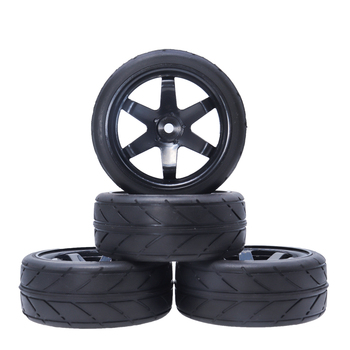 1/10 2Pcs RC Car On Road Tires and Wheel Hex 12mm for 1:10 HSP HPI RC Car Tyres Traxxas  TRX4 TRX-4 Tamiya Accessories 2020 4pcs 2pcs 150mm wheel rim and tires for 1 8 monster truck traxxas hsp hpi e maxx savage flux racing rc car accessories hot