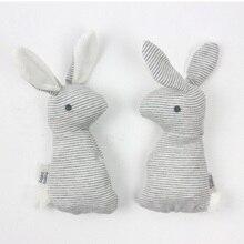 Newborn Infant Baby Rattle Toys Cute Rabbit Handbells Plush Baby Toy With Sound Toy Gift Children Kids Christmas Plush Doll