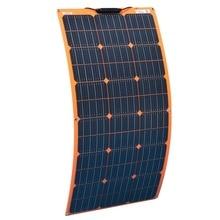 цена на Flexible Solar Panel 100w 18v 12v Solar Charger Monocrystalline for 1000w home kit system Car RV Boat Battery Charger Waterproof