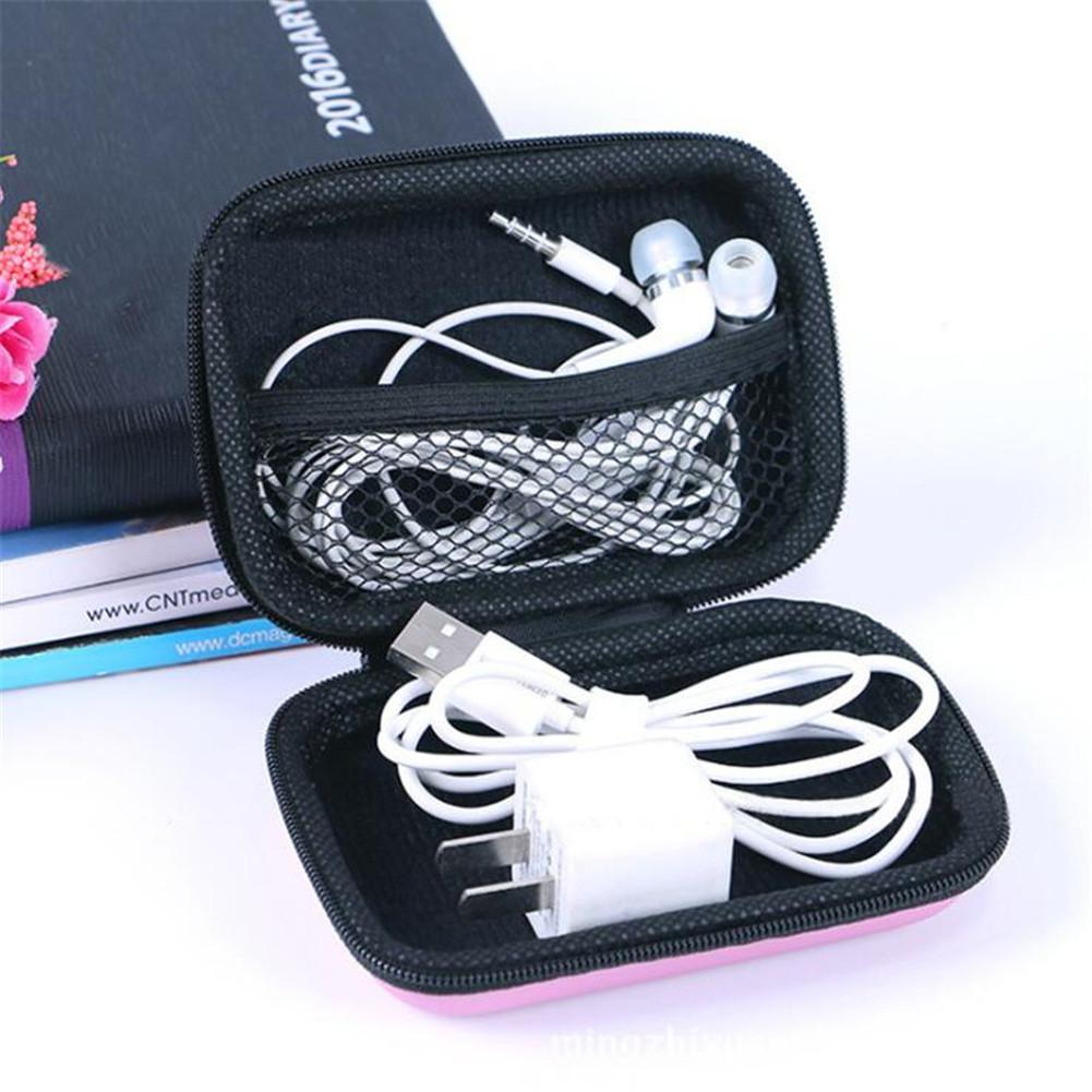 HiMISS Storage Bag Pocket Outdoor Portable Data Cable Storage Bag Mobile Phone Line Headset Storage Box Zipper Wallt