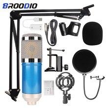 Micro de Studio Microfone bm 800 Microphone de diffusion d'enregistrement sonore à condensateur professionnel microfone bm800 pour ordinateur