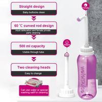 500ml Wc Bidet Sprayer Persönliche Reiniger Hand SeatTackle Hygiene Waschen Reise EVA Tragbare Washer Flasche