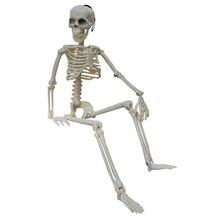 Decorazione auto spoof scheletro umano attivo modello anatomia scheletro scheletro apprendimento medico scheletro decorazione festa di Halloween