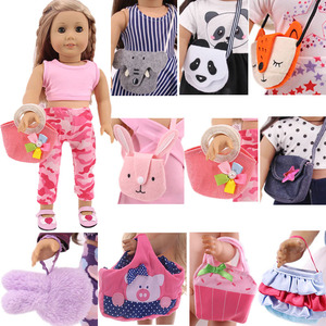 Сумка для кукол, сумка на ремне, сумка на плечо с изображением Минни, нагрудная сумка, сумка с мультипликационным принтом для 18 дюймов, амери...
