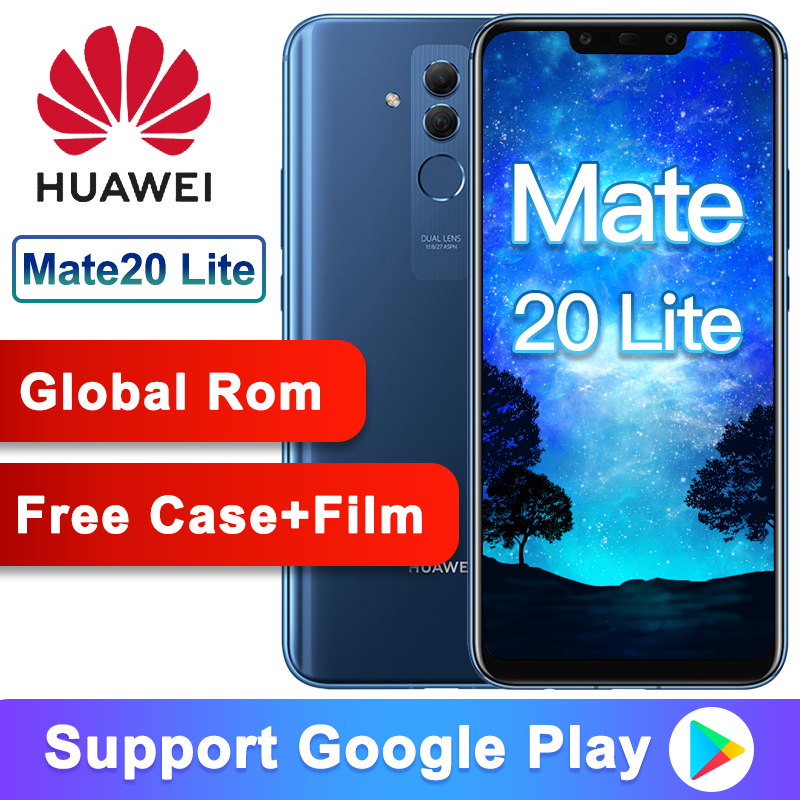 Global Rom Original Huawei Mate 20 Lite Maimang7 6G 64G 6.3 Inch Mobile Phone Kirin 710 Octa Core 2340 X 1080 9V/2A Quick Charge