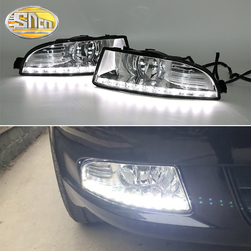 SNCN <font><b>LED</b></font> Daytime Running Light For <font><b>Skoda</b></font> <font><b>Octavia</b></font> A5 <font><b>2010</b></font> 2011 2012 2013 Car Accessories Waterproof 12V DRL Fog Lamp Decoration image