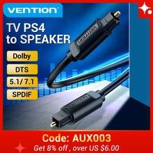 Vention – câble Audio optique numérique Toslink SPDIF, 1m 5m, pour amplificateurs Blu-ray Xbox PS4, barre de son, câble optique Coaxial