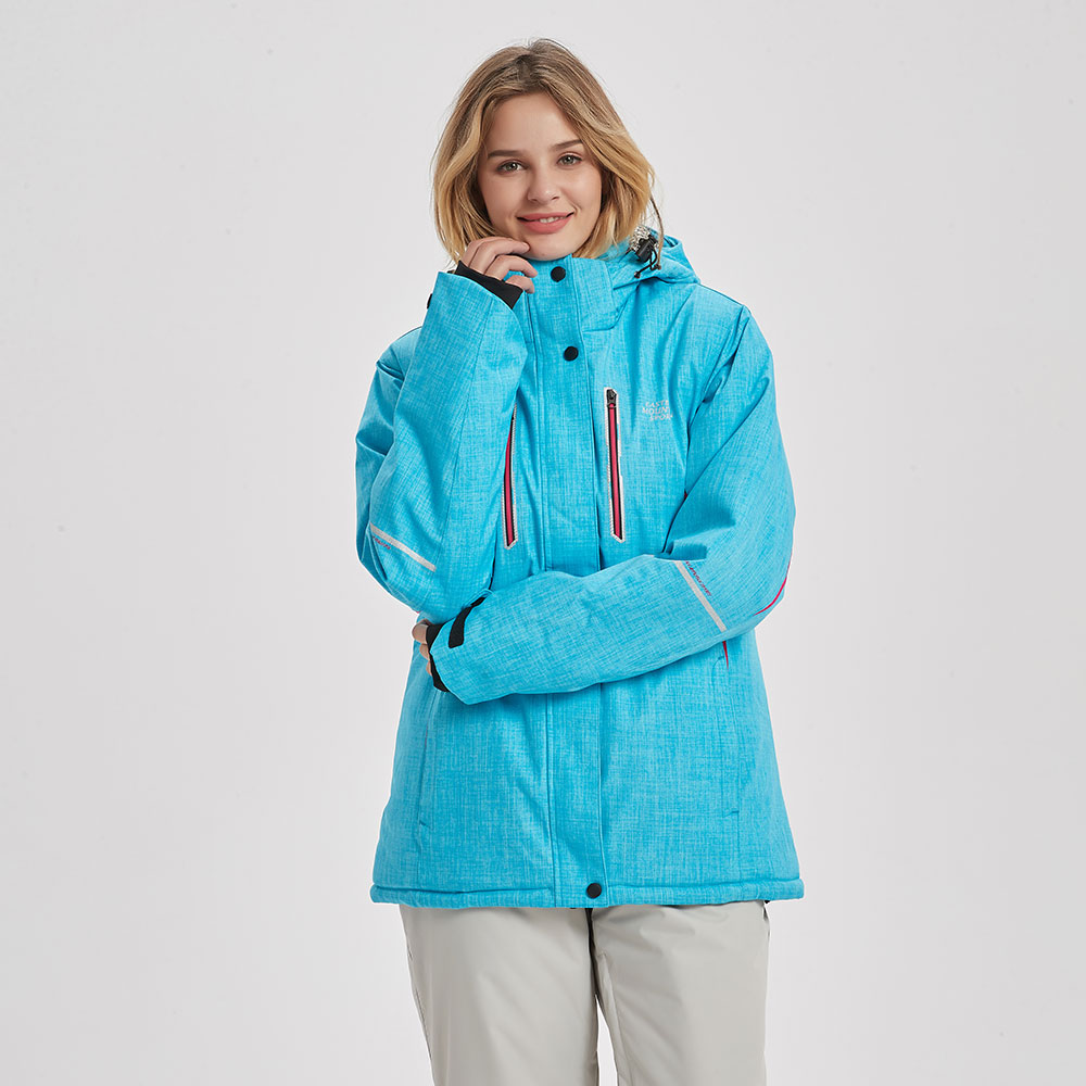 Ski Jacket Women Winter Waterproof Windproof Breathable Super Warm Female Snow Coat -30 Degrees Skiing And Snowboarding Jacket