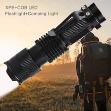 Mini 14500 Led Flashlight Cob AA Tactical Flashlight Zoom Flashlight Rechargeable Xpe Q5 Camping Led Torch For Hiking Walking