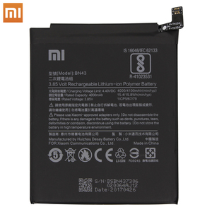 Image 3 - Xiao Mi Replacement Battery For Xiaomi Redmi Note 4X 4 X / Note 4 global Snapdragon 625 4000mAh BN43 Original  Phone Battery