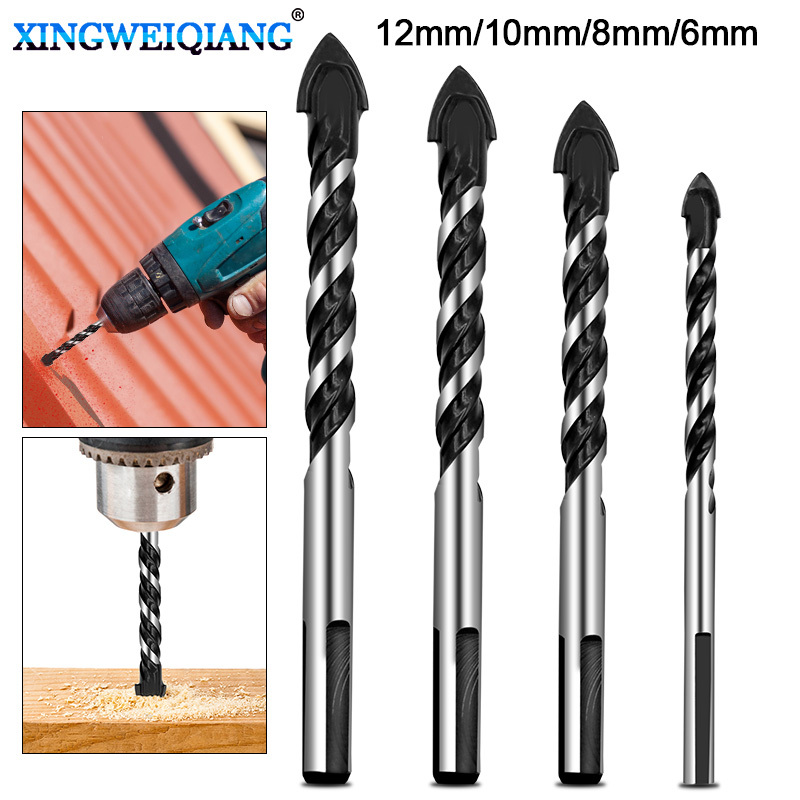6mm 8mm 10mm 12mm Ceramic Tile Drill Bits Masonry Drill Bits Set For Glass Brick Concrete Wood Tungsten Carbide Tip For Wall Mir