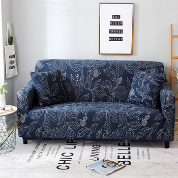 Sofa Covers for Living Room Modern Floral Printed Stretch Sectional Slipcover Polyester L Shape Armchair Couch Case 1/2/3/4 Seat 23