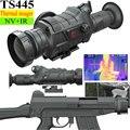 Thermal Imager Night Vision Riflecope Monocular Hunting IR Camera NV Telescope 450m 400X300 Temperature Sensor Thermograph TS445