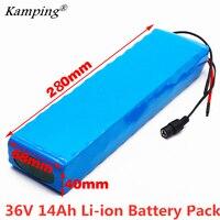 2019new 36 v bateria 10s3p 14ah 42 v 18650 bateria de íon de lítio para ebike scooter do motor da bicicleta do carro elétrico com 20a bms 500 w|Pacotes de bateria| |  -