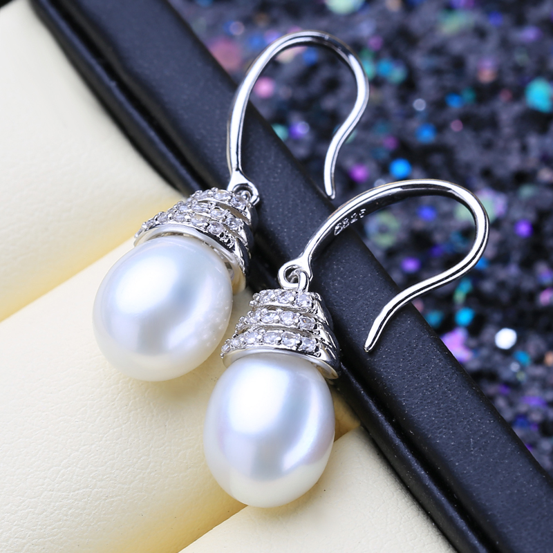 FENASY 925 Sterling Silver Drop Earrings Natural Freshwater Pearl Earrings For Women Handcrafted Fashion Party Wedding Jewelry
