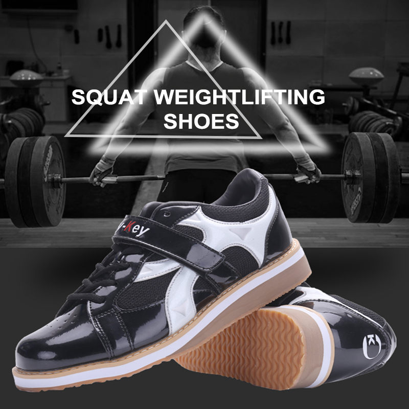 R.Xjian Men's Weightlifting Shoes Fitness Shoes Sports Track and Field Shoes Fighting Boxing Shoes Competitive Sports