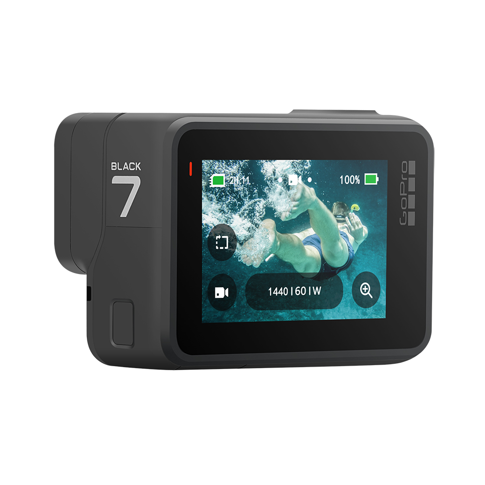 GoPro HERO 7 Black Waterproof Action Camera with Touch Screen Sports Cam Go Pro HERO 7 12MP Photos Live Streaming Stabilization 5