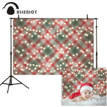 Allenjoy photophone backdrop Christmas glitter bokeh halo lattice children background for photography photocall baby shoot