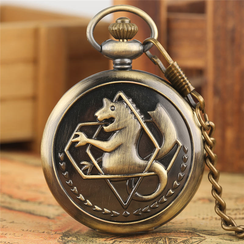 Wolif Pocket Watch FOB Fullmetal Alchemist Quartz Pendant Watches Edward Elric Watches For Men Reloj Colgante Enfermera