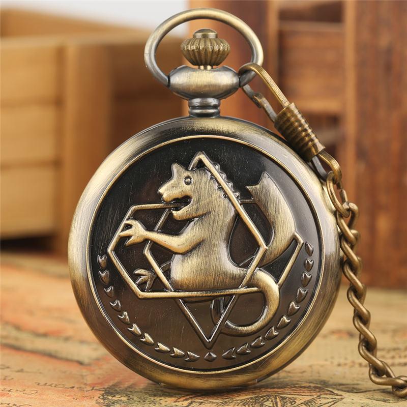 Wolif Pocket Watch FOB Fullmetal Alchemist Quartz Pendant Watches Edward Elric Watches For Men Reloj Colgante Enfermera