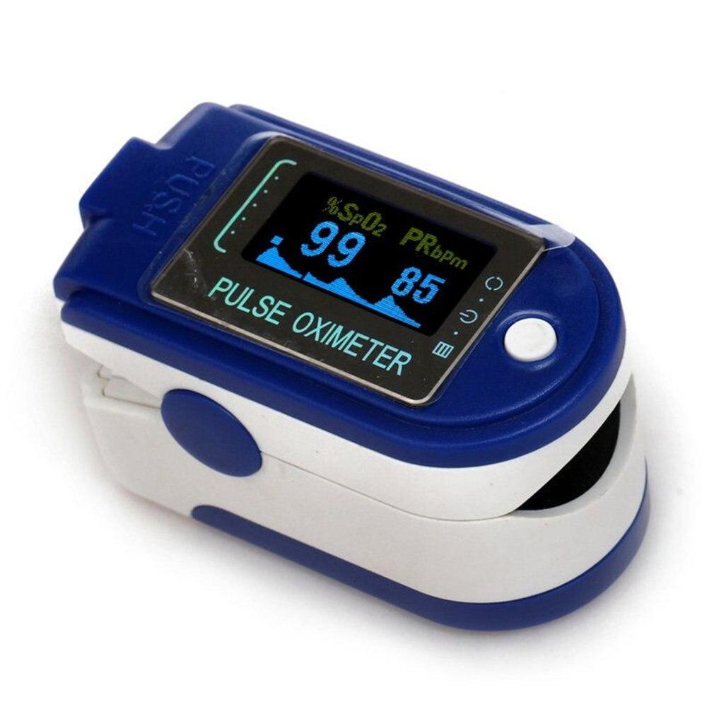Oximeter Finger-Clip Measurement Cms50d Blood-Oxygen Type Saturation Home