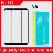 """6.0 """"calowy dotykowy szkło panelowe do LG V30 H930 H931 H932 LCD przedni ekran zewnętrzna wymienna soczewka szklana naprawa części"""
