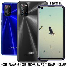 Smartphones globais 8x rosto id 8mp + 13mp 4g ram + 64g rom android 6.72