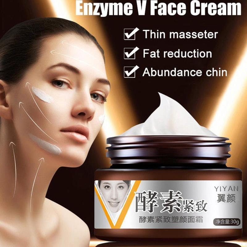 V Face Firming Collagen Enzyme Facial Cream Slimming Lifting Shaping Cream Anti Aging Moisturizing Massage Cream Skin Care 30ml