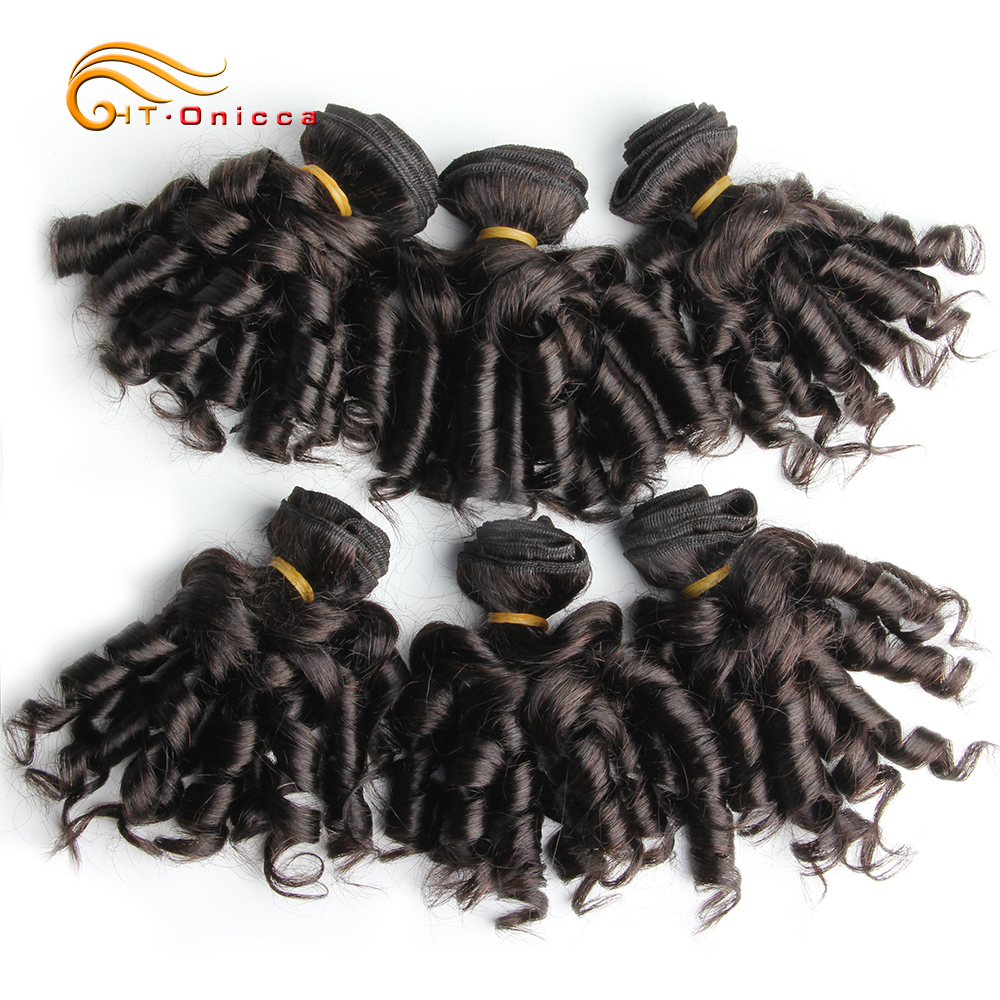 Curly Hair Bundles 6pcs 100% Human Curly Hair Double Drawn  Natural Color  Hair s 2