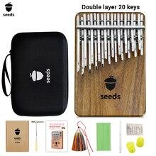 20-Keys Flat-Board Seeds Musical-Instruments-Set Kalimba Thumb Piano-Innovation Acacia