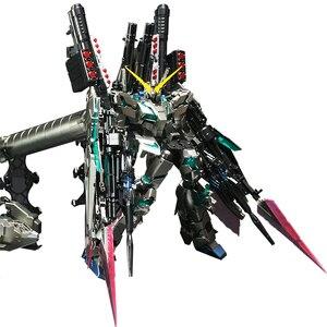 Image 5 - Bandai Mg 1/100 Metalen Plating Kleur RX 0 Volledige Armor Eenhoorn Gundam Kaka 20 Cm Monteren Actie Toy Figures Kinderen geschenken