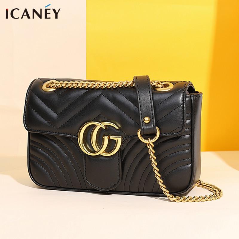 Shoulder bag female  CG small crossbody bag for female messenger bag 2020 bolsa luxury handbags women bags designer purses