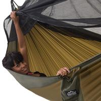 Mosquito Net Hammock Outdoor Parachute Cloth Army Camping Air Tent Single Double Travel Survival Hunting Sleeping Bed Portable