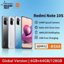 [Estreno mundial] versión Global Xiaomi Redmi Note 10S Smartphone 64MP Quad Cámara Helio G95 6,43