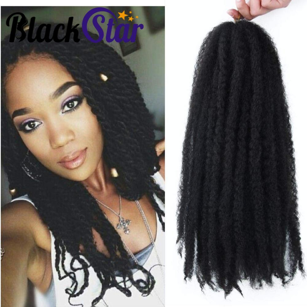 Marley Braiding Hair Synthetic Afro Kinky Marley Hair for Twists 18 Inch Marley Twist Braiding Hair Extensions