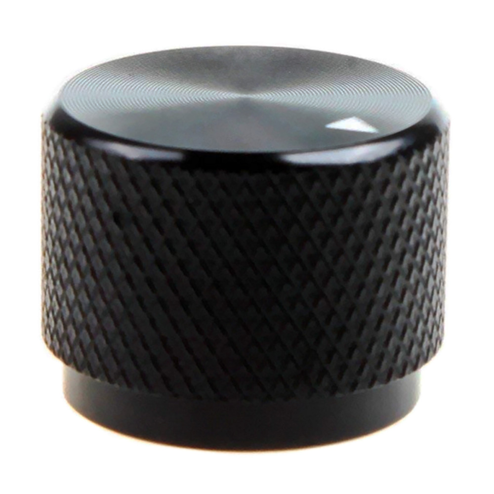 Solid Machined Metal Amplifier Knob Black Aluminum Rotary Control Potentiometer Knob Knobs 20 X 15.5mm