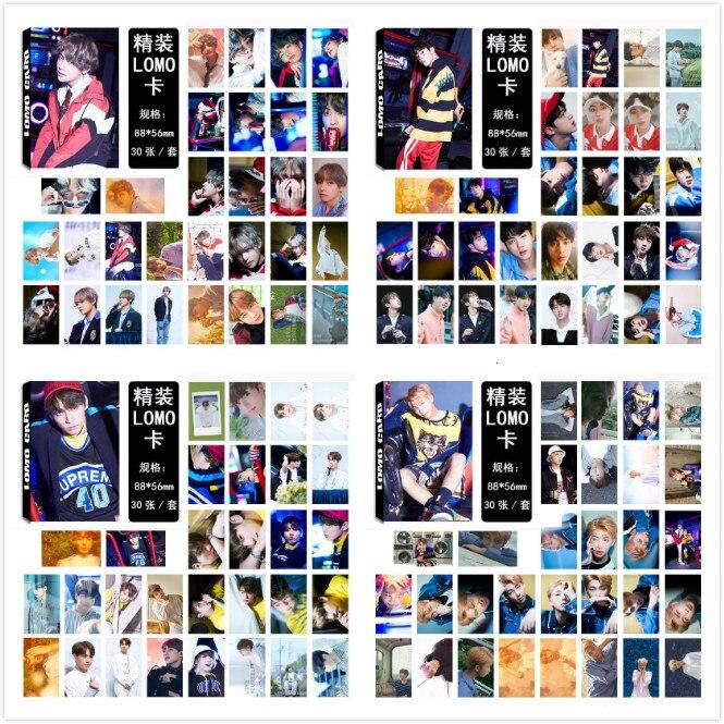 30pcs/set Fashion Kpop Bangtan Boys Photocard HD High Quality Album Photo Card Bangtan Boys Kpop Love Yourself Album