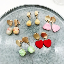 Free Shipping Geometric Earring Natural Stones Punk Holiday