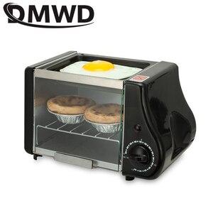 Image 2 - Multifunction mini electric Baking Bakery roast Oven grill fried eggs Omelette frying pan breakfast machine bread maker Toaster