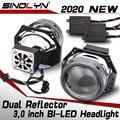 Sinolyn 55W Bi LED Linsen 3,0 Zoll Engel Augen Hella 3R G5 Projektor LED Objektiv Kit In Scheinwerfer Auto styling Retrofit Zubehör