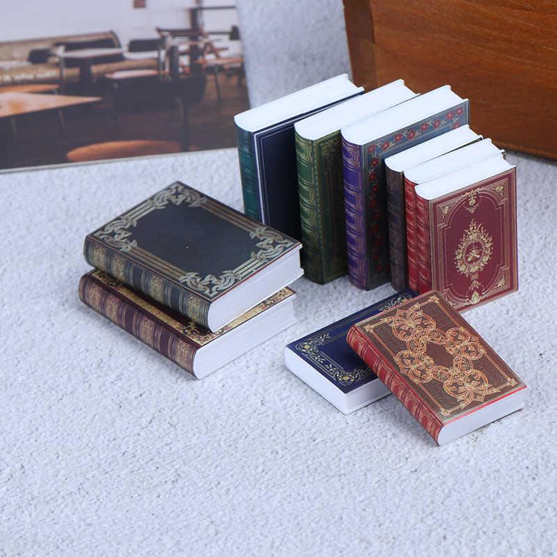 Venta al por mayor 1/12 accesorios de casa de muñecas modelo escena en miniatura Mini libro cuaderno de papel juguetes para niños regalos de cumpleaños accesorios 1 pieza