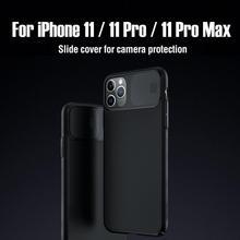 Dla iPhone 11 Pro Max przypadku NILLKIN CamShield przypadku ochrony kamera PC tylna pokrywa dla iPhone 11 obiektyw ochrona pleców przypadku
