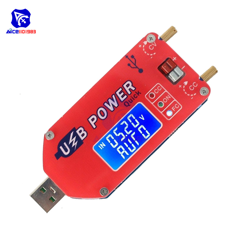 QC3.0 QC2.0 15W Adjustable DC-DC CC CV USB 5V To 3.3V 9V 12V 24V Step Up/Down Power Supply Boost Buck Converter Module With Case